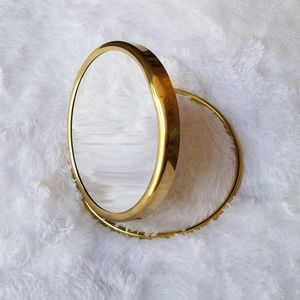 Vintage Goldtone Double-Sided Vanity Mirror